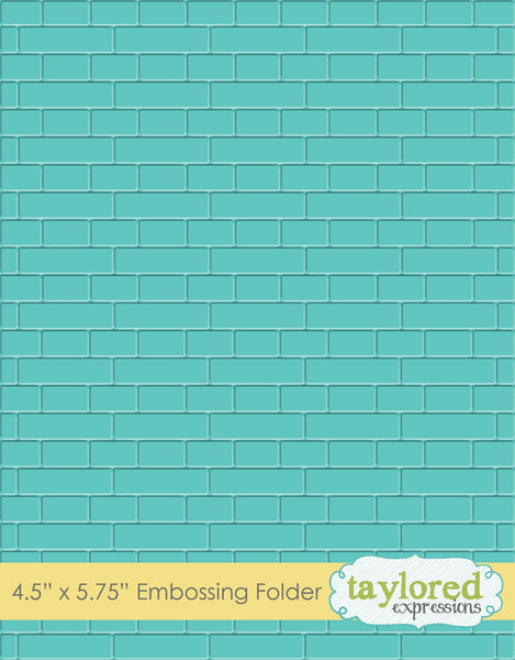 Taylored Expressions, Subway Tiles, Embossing Folder