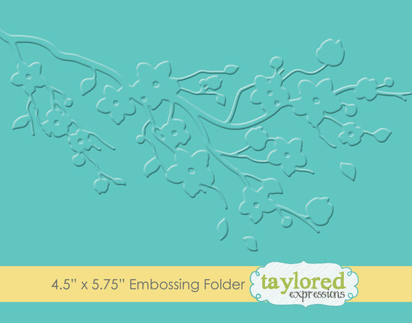 Taylored Expressions, Cherry Blossom, Embossing Folder