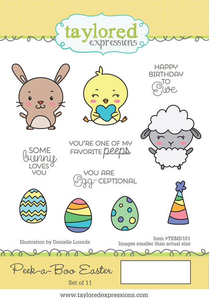 Taylored Expressions, Peek-A-Boo Easter, Cling Stamps - Scrapbooking Fairies