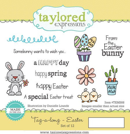 Taylored Expressions, Tag-A-Long Easter, Cling Stamps - Scrapbooking Fairies