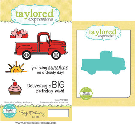 Taylored Expressions, Big Delivery Stamp & Die Combo - Scrapbooking Fairies
