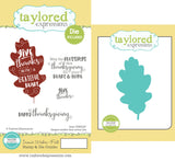 Taylored Expressions Stamp & Die Combo, Iconic Wishes - Fall - Scrapbooking Fairies