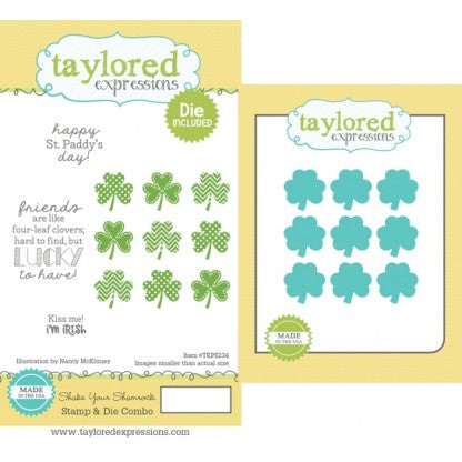 Taylored Expressions Stamp & Die Combo, Shake Your Shamrock