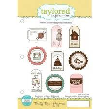 Taylored Expressions,  Cling Stamp: Totally Tags - Handmade (Set of 9) - Scrapbooking Fairies