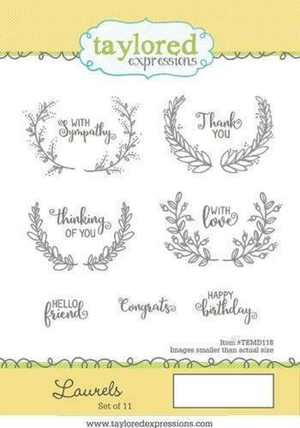 Taylored Expressions, Laurels, Cling Stamps