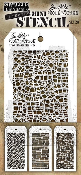 Tim Holtz, Mini Stencil Set 28