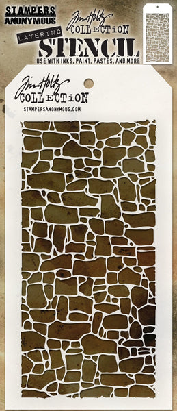 "Tim Holtz Layered Stencil 4.125""X8.5"", Stone"