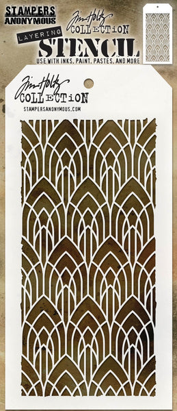 "Tim Holtz Layered Stencil 4.125""X8.5"", Deco Arch"