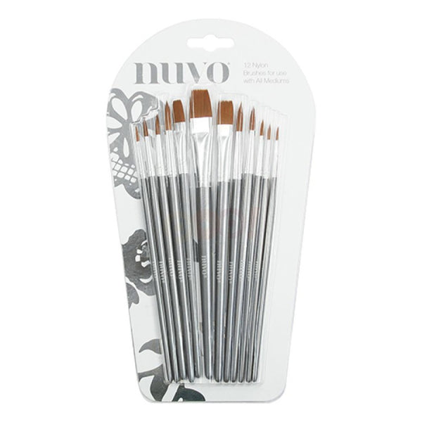 Tonic Studios, Nuvo Paint Brushes 12/Pkg - Scrapbooking Fairies