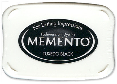 Memento Ink Pad, Tuxedo Black - Scrapbooking Fairies