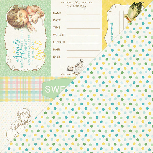Authentique, Beginnings, Theme 8 - Doublesided Paper - Scrapbooking Fairies