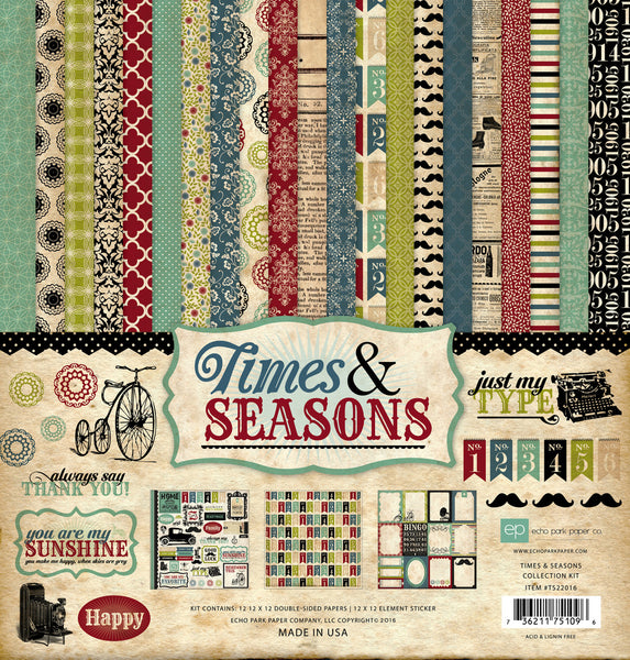 Times & Seasons Collection Kit - Scrapbooking Fairies