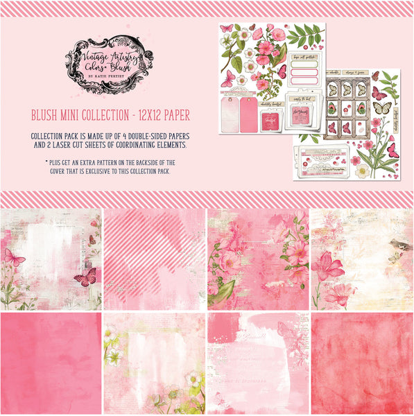 "49 And Market Collection Pack 12""X12"", Vintage Artistry Blush"