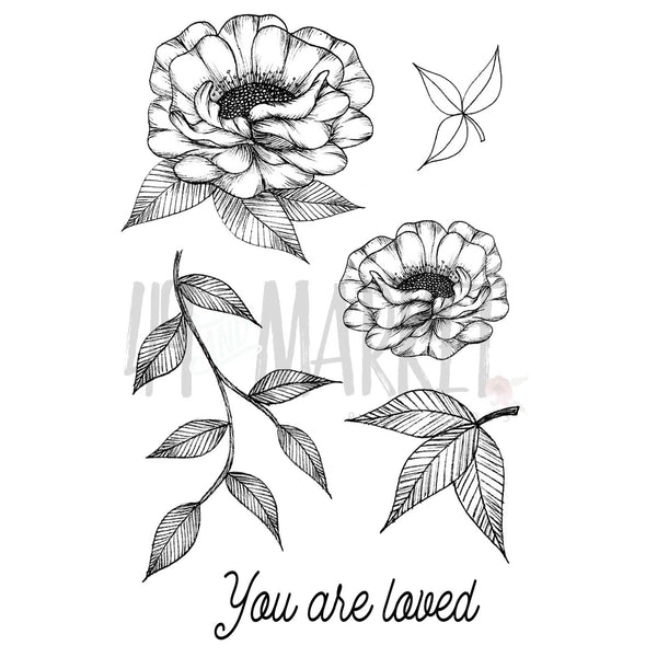 "49 & Market, Clear Stamps 4""X6"", Valerie's You Are Loved"