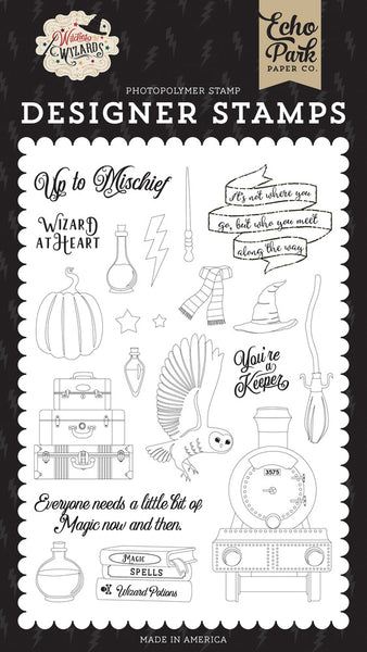 Echo Park Stamps, Wizard At Heart, Witches & Wizards
