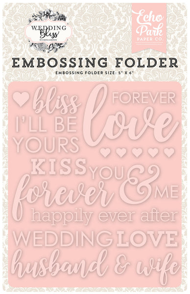 Echo Park Paper, Forever Love Embossing Folder - Scrapbooking Fairies