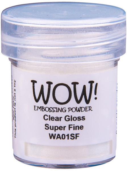WOW! Embossing Powder Super Fine 15ml, Clear Gloss