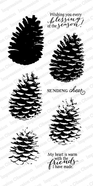 Impression Obsession, Layered Pinecone by Dina Kowal , Clear Stamps