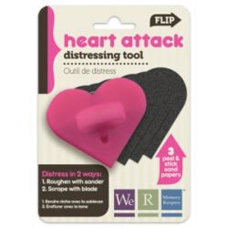 "WE R MK: HEART ATTACK Distressing Tool Sand/Scrape, 2.5""X2"""