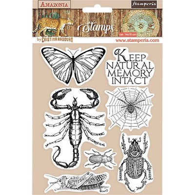 "Stamperia, HD Natural Rubber Stamp, 5.5""X7"", Butterfly, Amazonia"