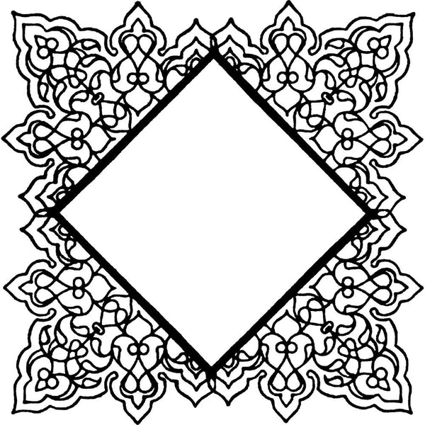 Studio 490 Wendy Vecchi Background Cling Stamp, Square Doily