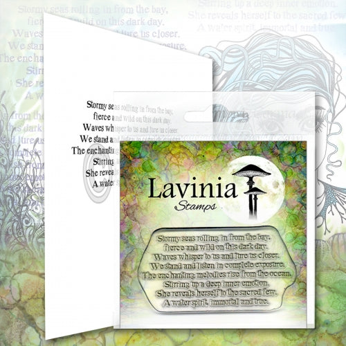 Lavinia, Water Spirit Verse (LAV632), Clear Stamp