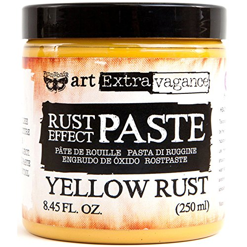 Finnabair Art Extravagence Rust Effect Paste 8.45oz, Yellow