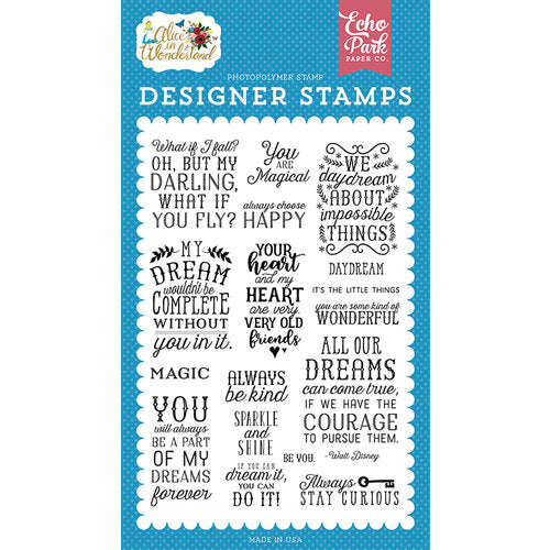 Echo Park Paper, Alice in Wonderland, You Are Magical, Clear Stamps (Retired)