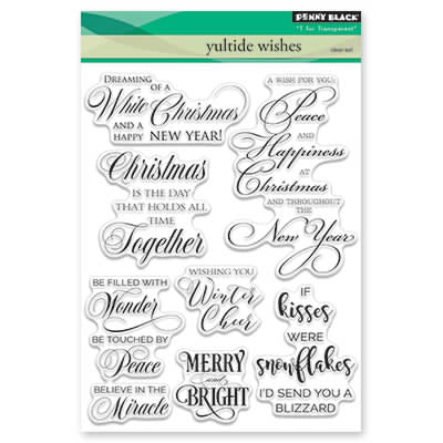 Penny Black, Yuletide Wishes, Clear Stamp