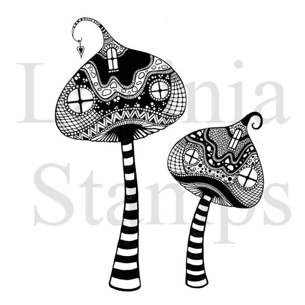 Lavinia Stamps, Zen Tall Mushrooms Clear Stamps - Scrapbooking Fairies