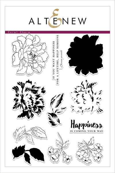 Altenew, Build-A-Flower: Coral Charm, Clear Stamps & Dies Set