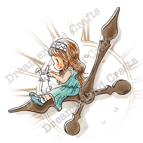 Dreamerland Crafts, Time Flies When You're Having Fun, Rubber Stamps - Scrapbooking Fairies