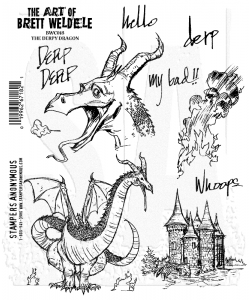 Stampers Anonymous, Brett Weldele,  Cling Mount Stamps, The Derpy Dragon