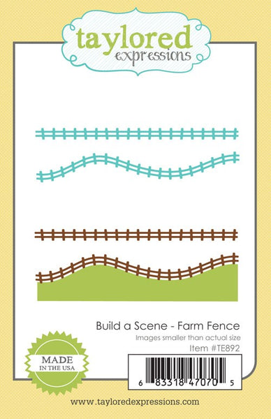 Taylored Expressions, Build A Scene - Farm Fence, Dies Set - Scrapbooking Fairies