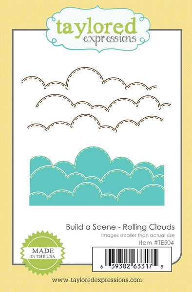 Taylored Expressions, Build a Scene - Rolling Clouds, Thinlits Dies - Scrapbooking Fairies