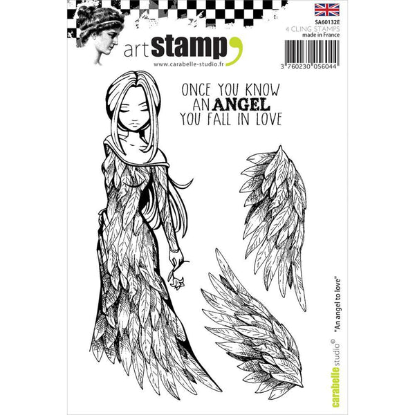 Carabelle Studio Cling Stamp A6, An Angel To Love