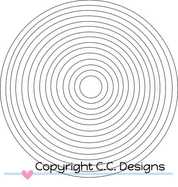 C.C. Designs Circles #1 Metal Die - Scrapbooking Fairies