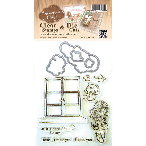 Dreamland Crafts, Just A Note To Say, Clear Stamps & Dies - Scrapbooking Fairies