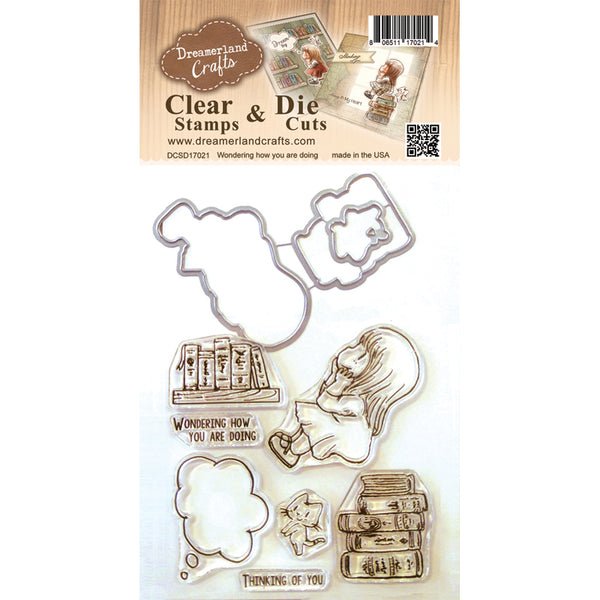 Dreamland Crafts, Wondering How You Are Doing, Clear Stamps & Dies - Scrapbooking Fairies