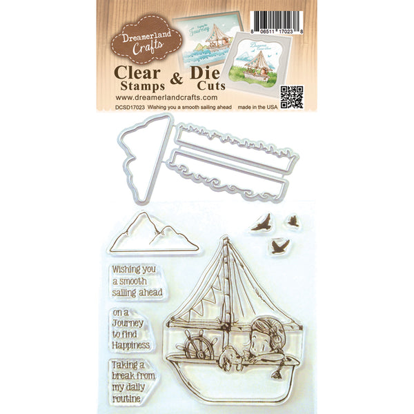 Dreamland Crafts, Wishing You A Smooth Sailing Ahead, Clear Stamps & Dies - Scrapbooking Fairies