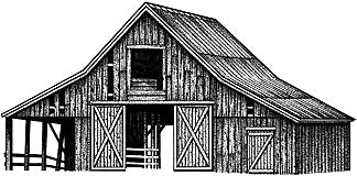Stampscapes, Old Barn (Large), Unmounted - Scrapbooking Fairies