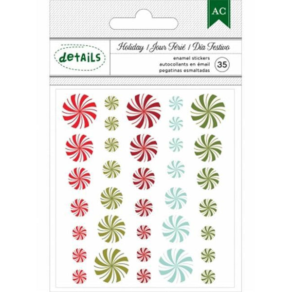 Holiday Details Self-Adhesive Enamel Dots 35/Pkg Candy