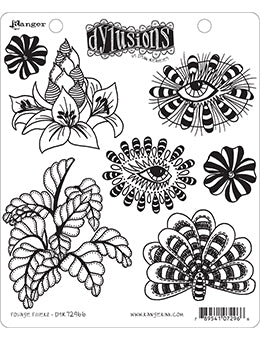 "Dyan Reaveley's Dylusions Cling Stamp Collections 8.5""X7"", Foliage Fillers"