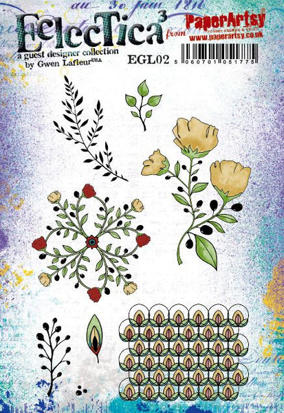 PaperArtsy, E³ Gwen Lafleur 02 Cling Stamps (A5 set, trimmed, on EZ)