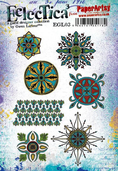 PaperArtsy, E³ Gwen Lafleur 03 Cling Stamps (A5 set, trimmed, on EZ)