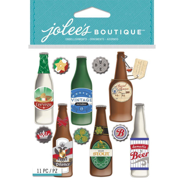 Jolee's Boutique, Beer Bottle 3D Stickers