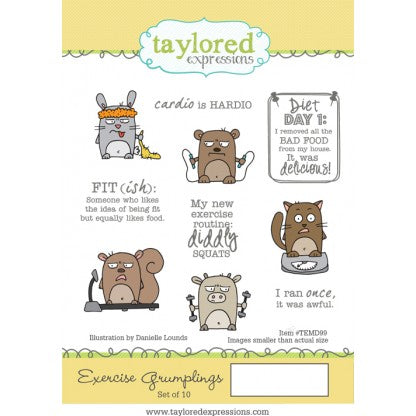 Taylored Expressions, Exercise Grumplings - Scrapbooking Fairies