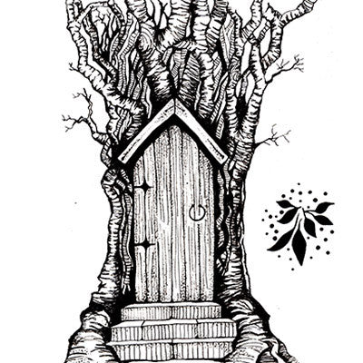Lavinia Stamps, Fairy Door Large, Clear Stamp - Scrapbooking Fairies
