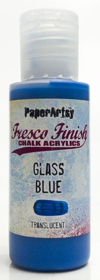PaperArtsy, Fresco Finish Chalk Acrylics Paint - Glass Blue (Translucent)