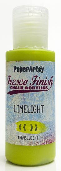 PaperArtsy, Fresco Finish Chalk Acrylics Paint - Limelight (Translucent)